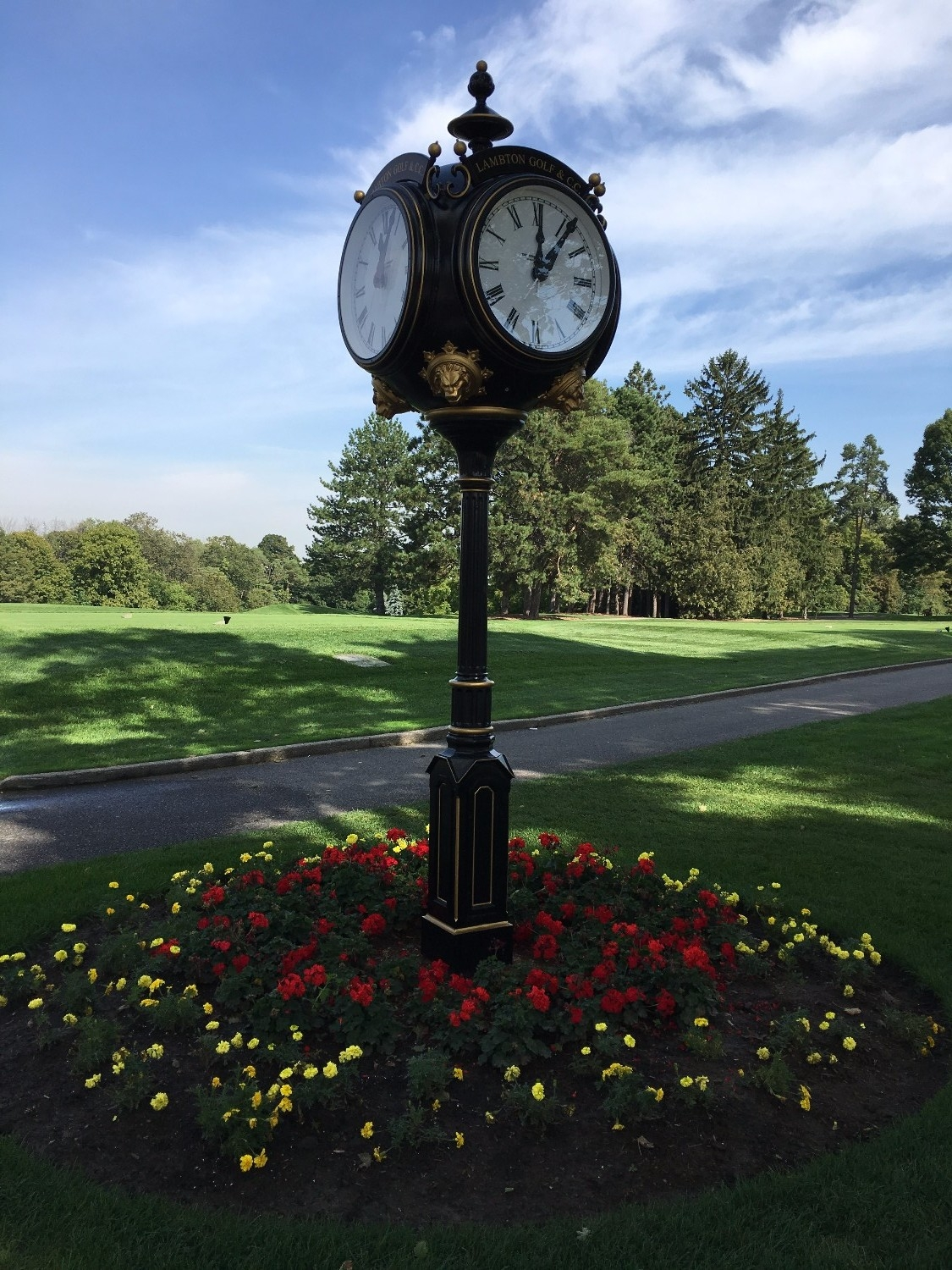 verdin golf clocks